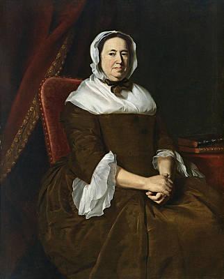 John Singleton Copley Painting - Portrait Of Mrs. Samuel Hill . Miriam Kilby by John Singleton Copley