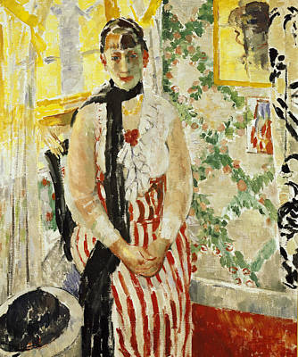 Portrait Of Nel Wouters Print by Rik Wouters