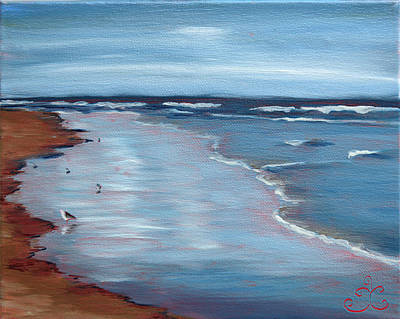Ogunquit Beach Painting - Portrait Of Ogunquit by Trina Teele