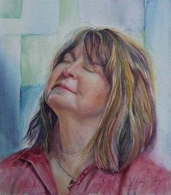 Portrait Painting - Portrait Of Peg by Mary Wykes