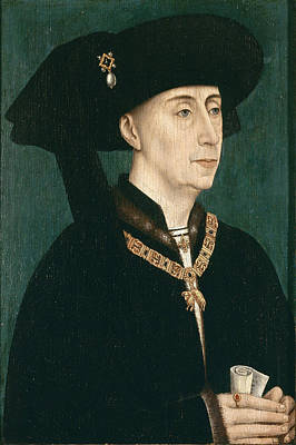 Portrait Of Philip The Good  Print by Rogier van der Weyden