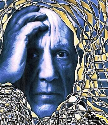 Portrait Of Picasso Print by Dan Twyman