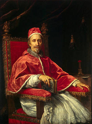 Carlo Maratta Painting - Portrait Of Pope Clement I by Carlo Maratta