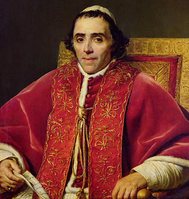 Papacy Painting - Portrait Of Pope Pius Vii by Jacques Louis David