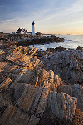 Portrait Of Portland Head Print by Eric Gendron