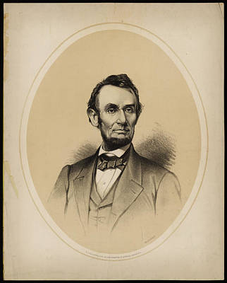 Presidents Painting - Portrait Of President Abraham Lincoln by Celestial Images