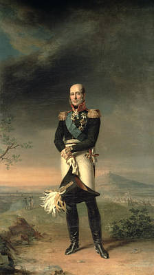 Portrait Of Prince Mikhail Barclay De Tolly 1761-1818, 1829 Oil On Canvas Print by George Dawe