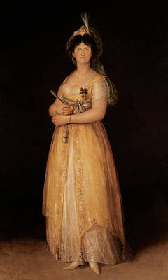 Portrait Of Queen Maria Luisa Print by Goya