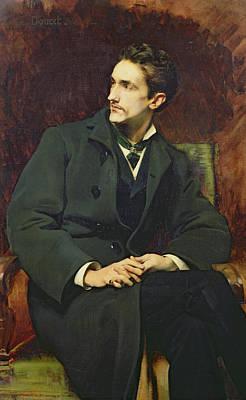 Portrait Of Robert Count Of Montesquiou-fezensac Print by Henri Lucien Doucet