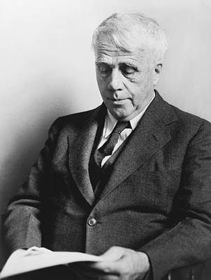 Portrait Of Robert Frost Print by Fred Palumbo
