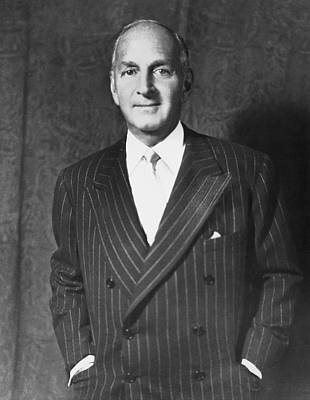 Portrait Of Robert Lehman Print by Underwood Archives
