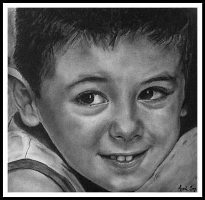 Portrait Of Samuel Print by Arual Jay