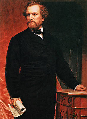 Book Illustrations Photograph - Portrait Of Samuel Colt, Inventor Of The Revolver by American School