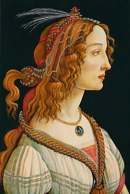 Portrait Of Simonetta Vespucci  Print by Celestial Images