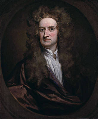 Godfrey Kneller Painting - Portrait Of Sir Isaac Newton by Godfrey Kneller