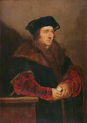 Portrait Of Sir Thomas More Oil On Canvas Print by Peter Paul Rubens