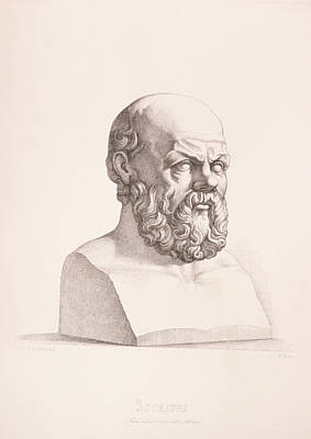 Bust Drawing - Portrait Of Socrates by CC Perkins