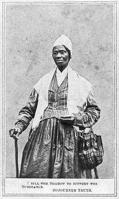 Portrait Of Sojourner Truth Print by Underwood Archives
