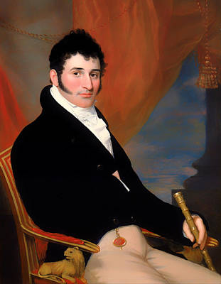 Portrait Of Solomon Issacs Print by Mountain Dreams