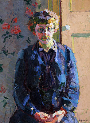 Sylvia Painting - Portrait Of Sylvia Gosse, 1912 by Harold Gilman