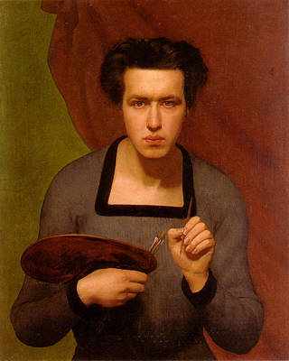 Portrait Of The Artist Print by Anne Francois Janmot