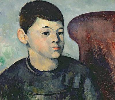 Portrait Of The Artists Son Print by Paul Cezanne