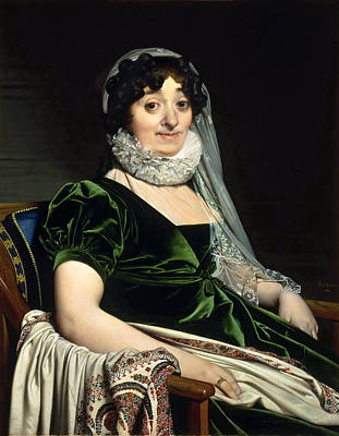 Jean-auguste-dominique Ingres Painting - Portrait Of The Countess Of Tournon by Jean-Auguste-Dominique Ingres