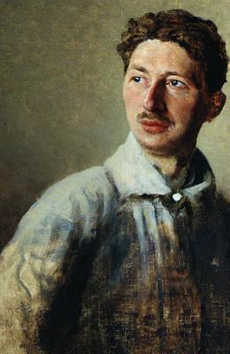 Portrait Of The Poet Sergey Gorodetsky Print by Ivan Kirillovich Parkhomenko