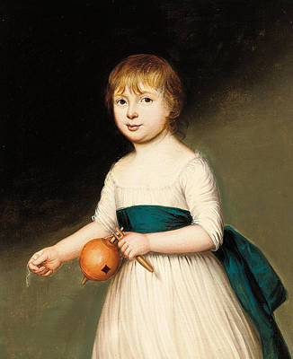 Youthful Painting - Portrait Of Thomas Allason by Francis Alleyne