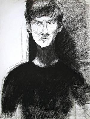 Portrait Of Troy 2 Print by Anita Dale Livaditis