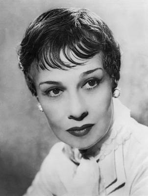 Earrings Photograph - Portrait Of Writer Anita Loos by Underwood Archives