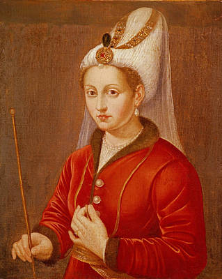 Cyprus Photograph - Portrait Presumed To Be Catherine Cornaro, Queen Of Cyprus, C.1470 Oil On Canvas by Giovanni Bellini