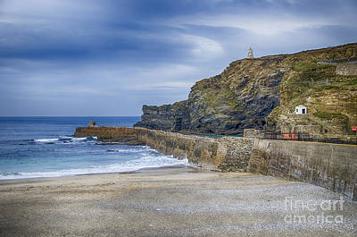 Portreath Before The Storms Print by Chris Thaxter
