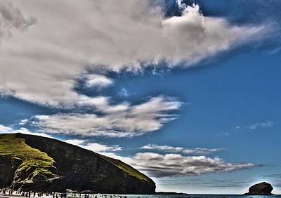 Surf Photograph - Portreath Headland by Paul Howarth