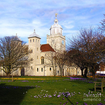 Portsmouth Cathedral At Springtime Print by Terri Waters
