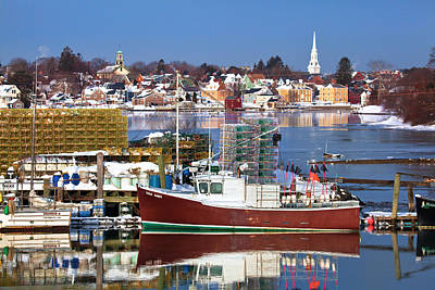 Portsmouth Lobster Boat Print by Eric Gendron