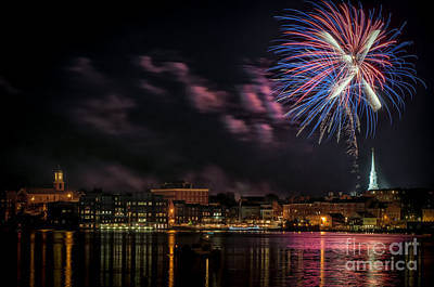 July 4 Photograph - Portsmouth Nh Fireworks 2013 by Scott Thorp