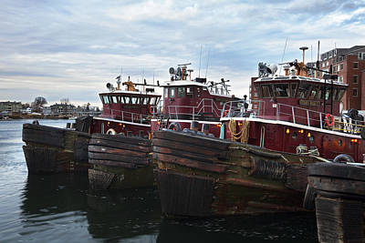 Portsmouth Tugs Print by Eric Gendron