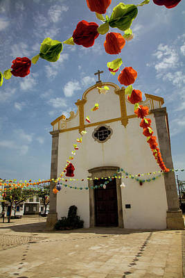 Portugal, Tavira, Chapel Of Sao Print by Terry Eggers