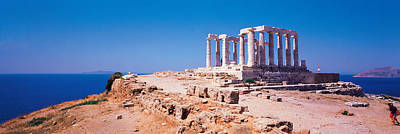 Reconstruction Photograph - Poseidon Cape Sounion Greece by Panoramic Images