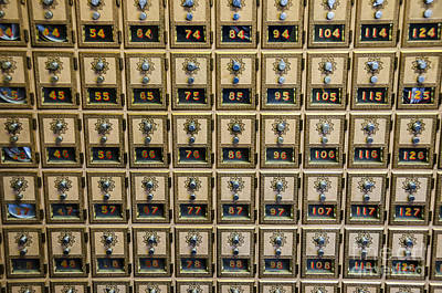 Post Office Combination Lock Boxes Print by Sue Smith
