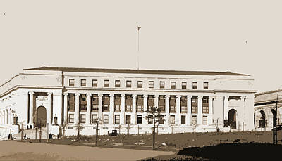 Washington D.c Drawing - Post Office, Washington, D.c, Post Offices by Litz Collection