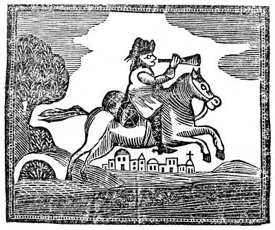 Post Rider, C1750 Print by Granger