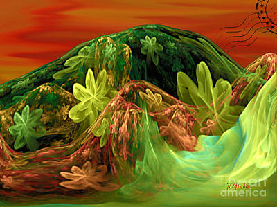 Unreal Digital Art - Postcard From La-la Land - Abstract Fantasy By Giada Rossi by Giada Rossi