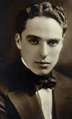 Postcard Of Charlie Chaplin Print by American Photographer