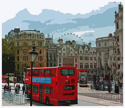 London Eye Painting - Postcards From London by Claire McCall