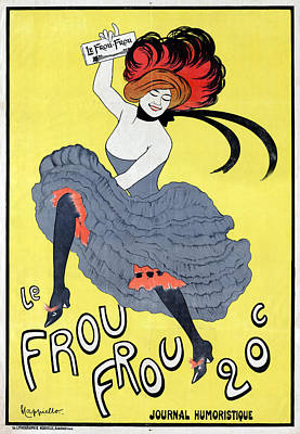 Belle Epoque Drawing - Poster Can Can, 1899 by Granger