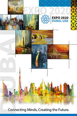 Merchandise Painting - Poster Dubai Expo - 11 by Corporate Art Task Force