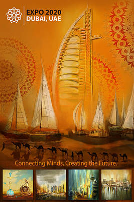 Merchandise Painting - Poster Dubai Expo - 3 by Corporate Art Task Force
