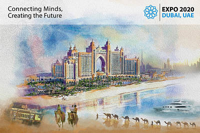 Merchandise Painting - Poster Dubai Expo - 5 by Corporate Art Task Force